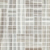 "Zebrino 1"" x 1"" Floor and Wall Mosaic in Bluette"