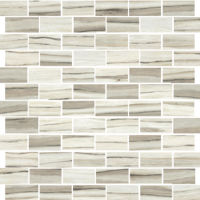 "Zebrino 1"" x 2"" Floor and Wall Mosaic in Classico"