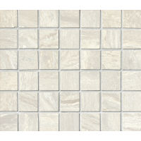 "Amazon 1-1/2"" x 1-1/2"" Floor and Wall Mosaic in Silver"