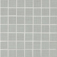 "Linen 1-1/2"" x 1-1/2"" Floor and Wall Mosaic in Zinc"