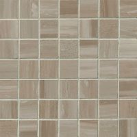 "Rose Wood 1-1/2"" x 1-1/2"" Floor and Wall Mosaic in Taupe"