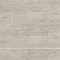"River Wood 8"" x 36"" x 3/8"" Floor and Wall Tile in Blanc"