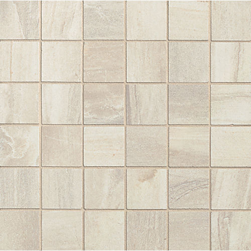 "Athena 2"" x 2"" Floor & Wall Mosaic in Pearl"