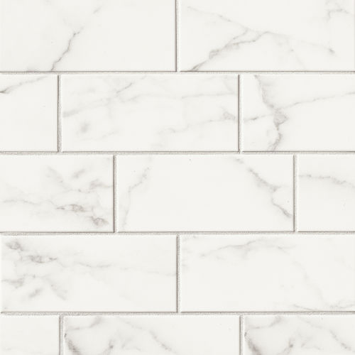 "Brooklyn 4"" x 10"" Wall Tile in Statuario"