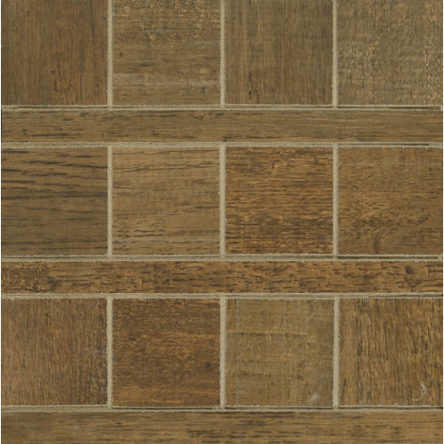 Barrique Floor and Wall Mosaic in Vert