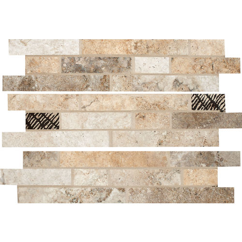 "Forge 3"" x 13"" Floor & Wall Listello in Mix Colors"