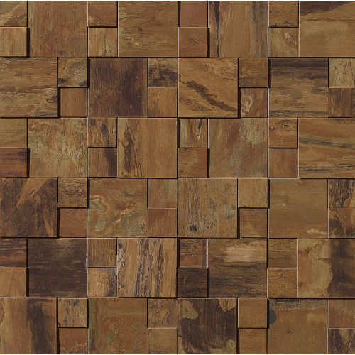 "Acadia 11"" x 11"" x 1/4"" Decorative Tile in Islesford Copper"