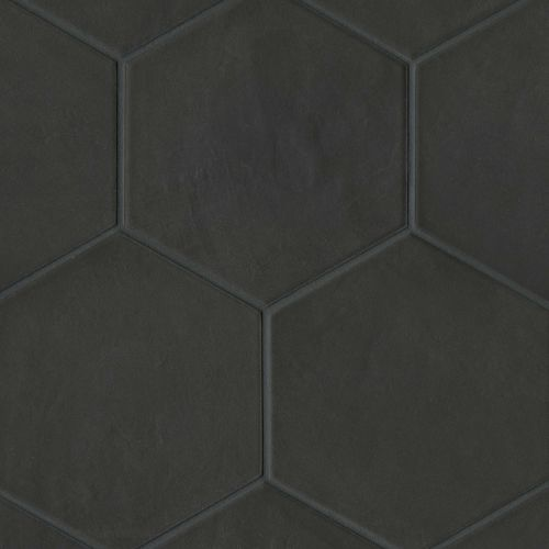 "Allora 8.5"" x 10"" Floor & Wall Tile in Solid Black"