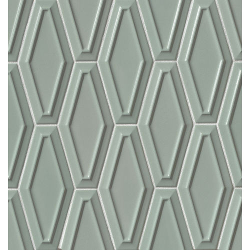"Costa Allegra 4"" x 9"" Decorative Tile in Gulf"