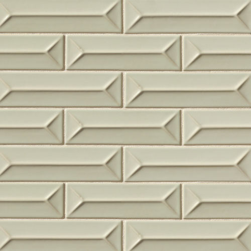 "Costa Allegra 2.5"" x 9"" Decorative Tile in Silver Strand"