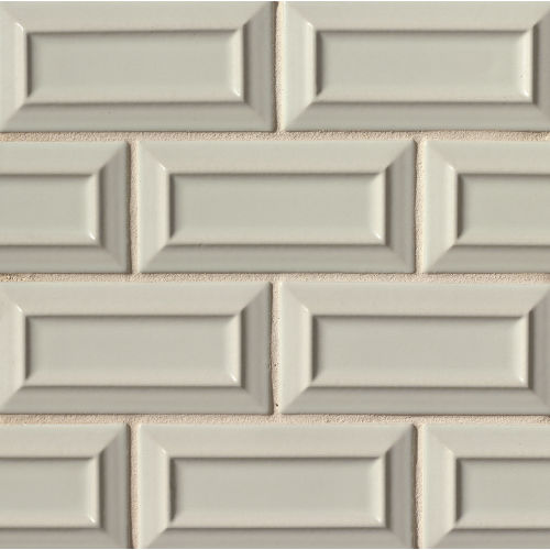 "Costa Allegra 3"" x 6"" x 5/16"" Decorative Tile in Silver Strand"