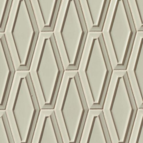"Costa Allegra 4"" x 9"" Decorative Tile in Silver Strand"