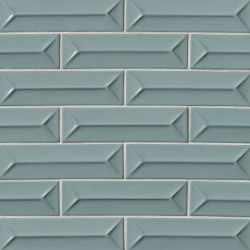 "Costa Allegra 2.5"" x 9"" Decorative Tile in Tide"