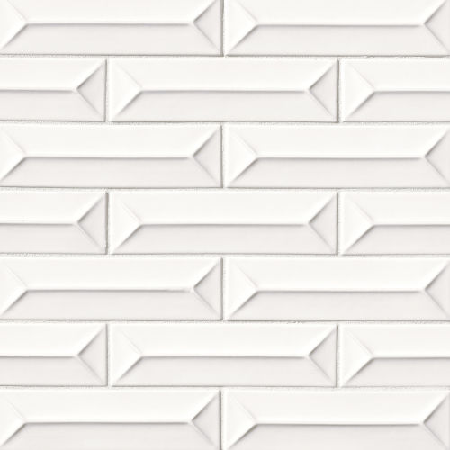 "Costa Allegra 2.5"" x 9"" Decorative Tile in White Sand"
