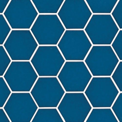 "Hedron 4"" x 5"" Wall Tile in Electric Blue"