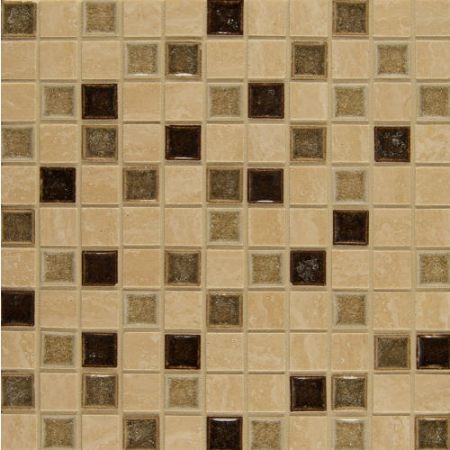 "Kismet 1"" x 1"" Wall Mosaic in Happenstance"