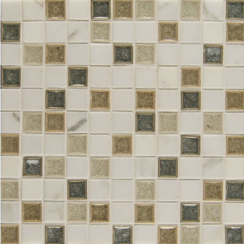 "Kismet 1"" x 1"" Wall Mosaic in Heaven"