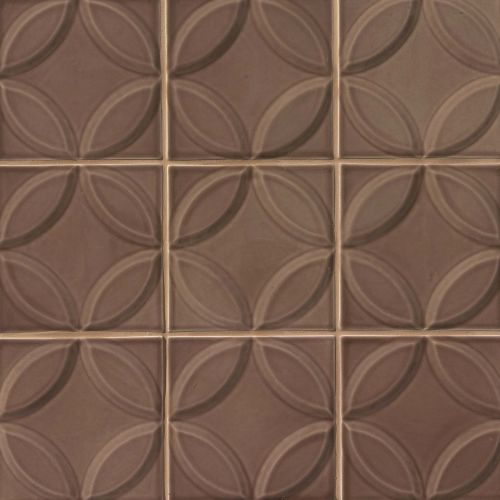 "Provincetown 6"" x 6"" Decorative Tile in Brewster Brown"