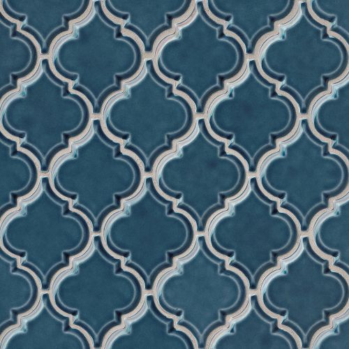 "Provincetown 5-1/8"" x 4-1/16"" Wall Mosaic in Cape Cod Blue"