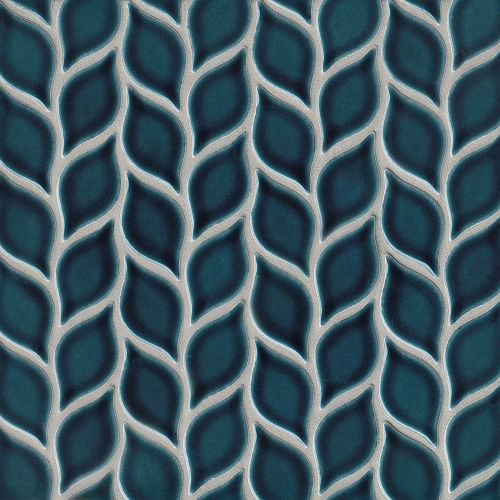 "Provincetown 2-13/16"" x 1-7/16"" Floor & Wall Mosaic in Cape Cod Blue"