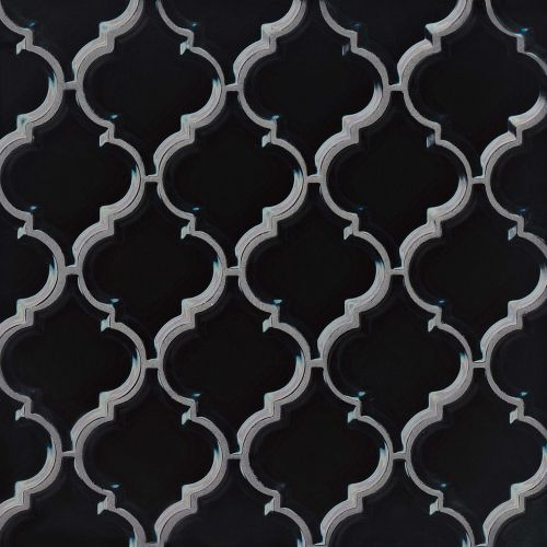 "Provincetown 5-1/8"" x 4-1/16"" Wall Mosaic in Fleet Black"