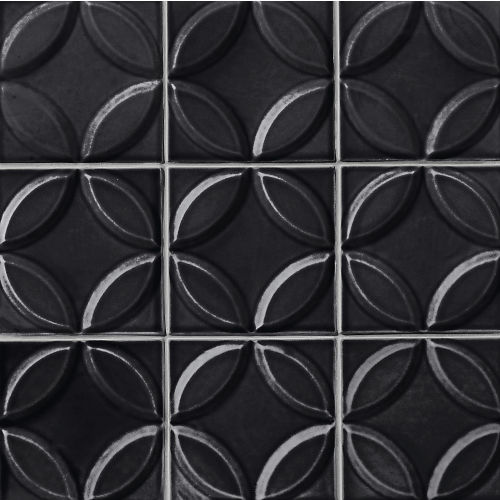 "Provincetown 6"" x 6"" Decorative Tile in Fleet Black"