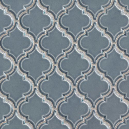 "Provincetown 5-1/8"" x 4-1/16"" Floor & Wall Mosaic in Harbor Blue"