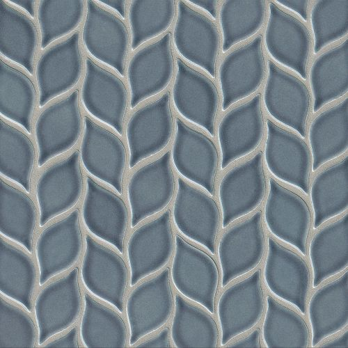 "Provincetown 2-13/16"" x 1-7/16"" Floor and Wall Mosaic in Harbor Blue"