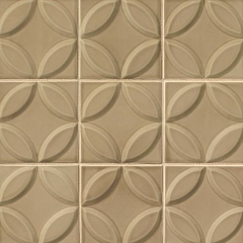 "Provincetown 6"" x 6"" Decorative Tile in Highland Brown"