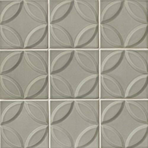 "Provincetown 6"" x 6"" Decorative Tile in Monument Grey"