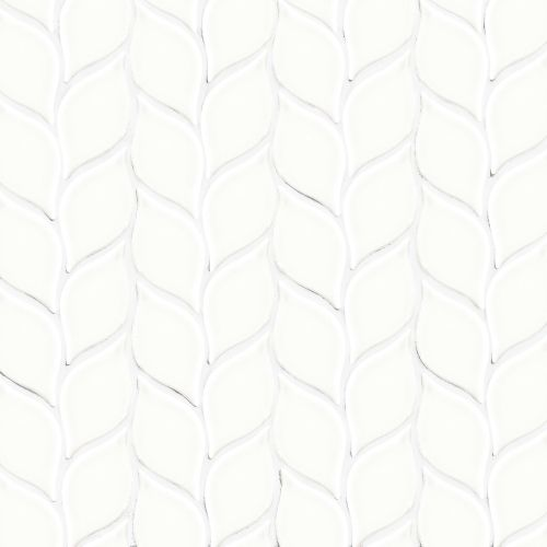 "Provincetown 2-13/16"" x 1-7/16"" Floor and Wall Mosaic in Porch White"