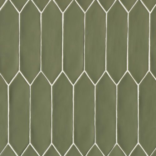 "Reine 3"" x 12"" Wall Tile in Castle Moss Green"