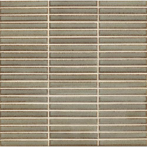 "Shizen 1/2"" x 4"" Floor & Wall Mosaic in River"