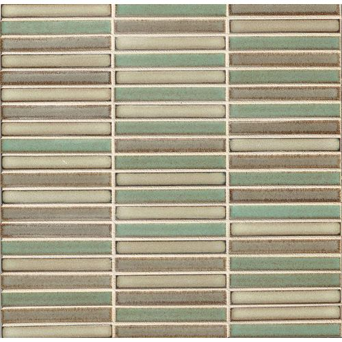 "Shizen 1/2"" x 4"" Floor & Wall Mosaic in Woodland Blend"
