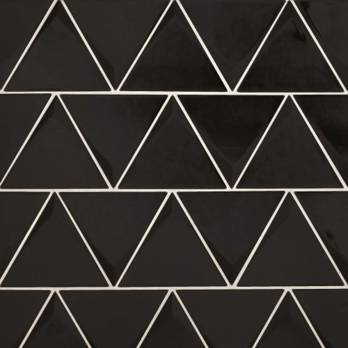 "Triangolo 4.5"" x 5"" Wall Tile in Black"