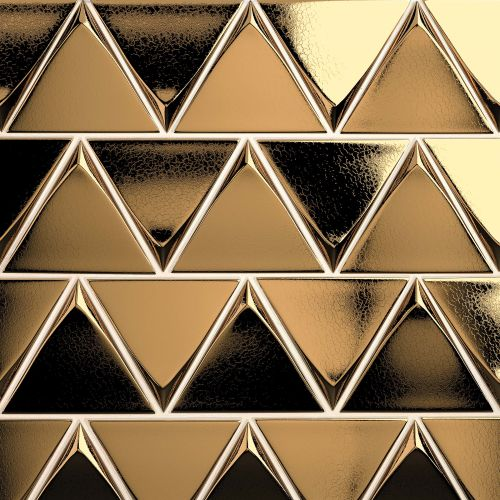 "Triangolo 4.5"" x 5"" Wall Tile in Metallic"