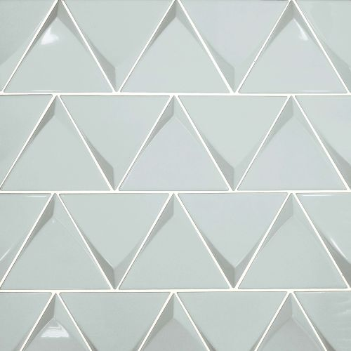 "Triangolo 4.5"" x 5"" Wall Tile in Sky Blue"