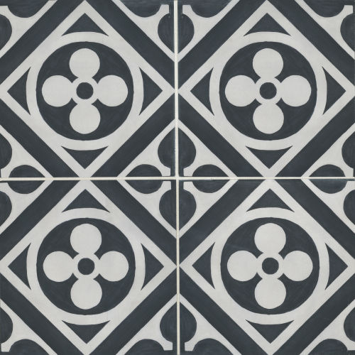 "Chateau 12"" x 12"" Decorative Tile in Canvas Ocean"