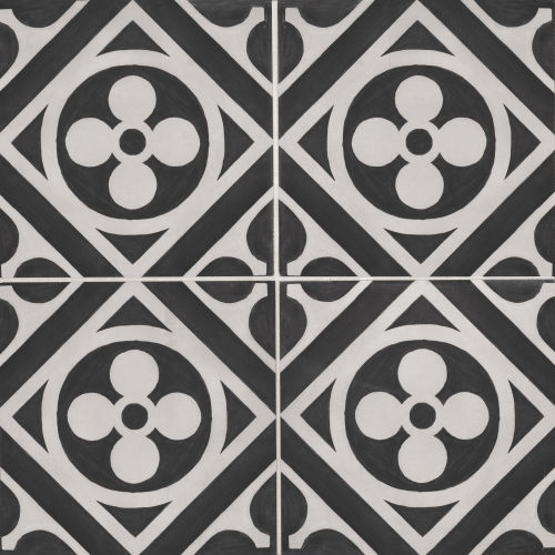 "Chateau 12"" x 12"" Decorative Tile in Midnight Canvas"