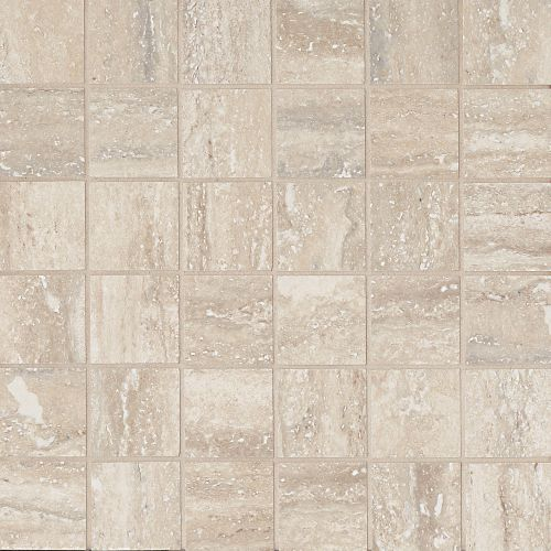 "Toscano 2"" x 2"" Floor & Wall Mosaic in Silver"
