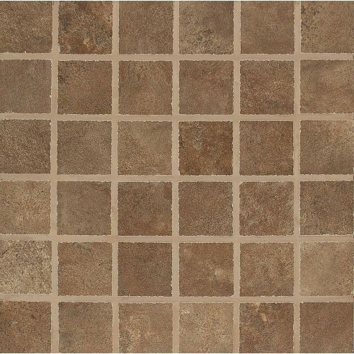 "Stonefire 2"" x 2"" Floor & Wall Mosaic in Rust"