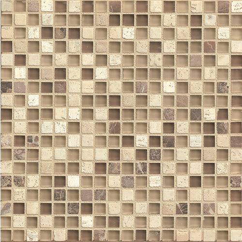 "Eclipse 5/8"" x 5/8"" Wall Mosaic in Espresso"