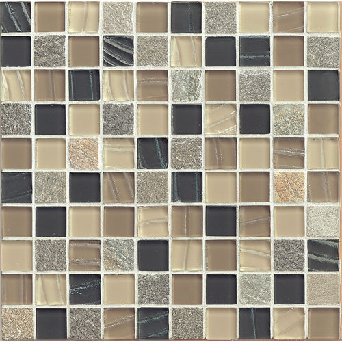 "Elume 1-1/4"" x 1-1/4"" Wall Mosaic in Boardwalk"