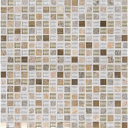 "Elume 5/8"" x 5/8"" Wall Mosaic in Champagne"