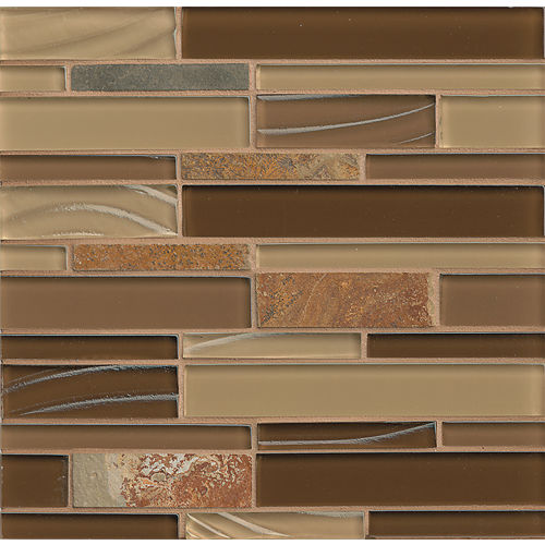 Elume Wall Mosaic in Chestnut