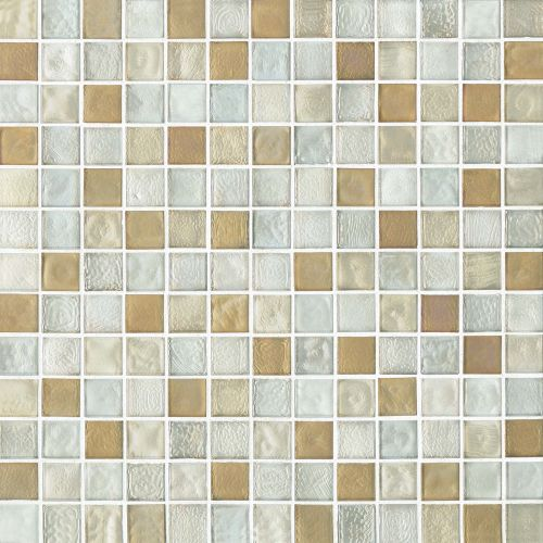 "Kahakai 7/8"" x 7/8"" Floor & Wall Mosaic in Sunrise"