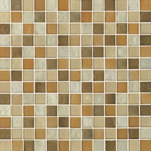 "Kahakai 7/8"" x 7/8"" Floor & Wall Mosaic in Sunset"