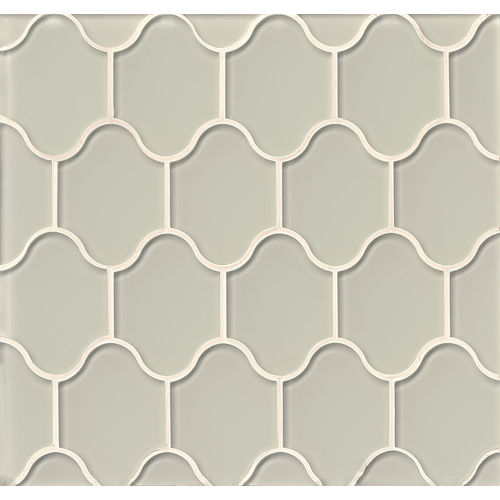 Mallorca Glass Wall Mosaic in Mist