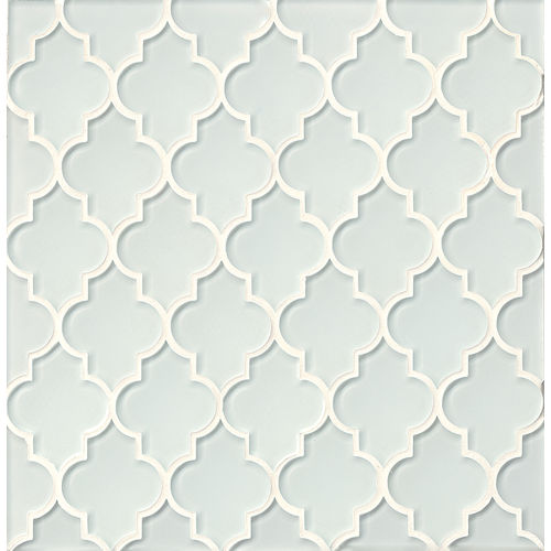 Mallorca Glass Wall Mosaic in White Linen