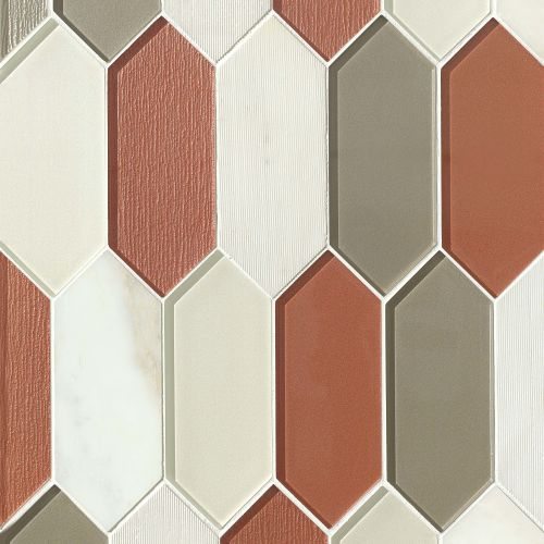 Verve Wall Mosaic in Knockout
